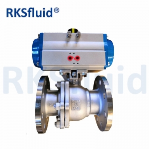 2PC Flange End Pneumatic Control Ball Valve