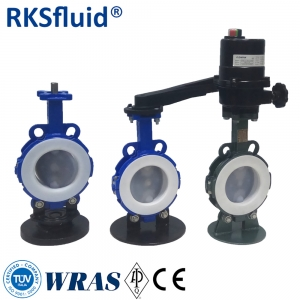 API Certified Fluorine-lined butterfly valve price list