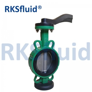 Actuated 4 Inch Italy 10 Lug Cryogenic Grooved Wafer Type Cast Iron Butterfly Valve Manufacturer stainless steel
