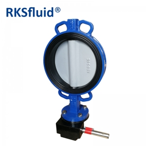 BUNA-N seat butterfly valve ductile iron disc wafer butterfly valve