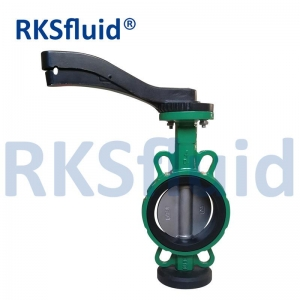 Cast iron/ductile iron wafer PN16 butterfly valve with level stainless steel