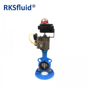 Center line wafer type stainless steel pneumatic actuator butterfly valve