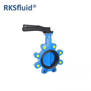 China Chinese Butterfly valve DN100 4IN Lug factory sales GGG40 handlever pipe use hardware
