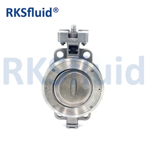 China Chinese DN150 high performance double eccentric WCB CF8M CF8 butterfly valve
