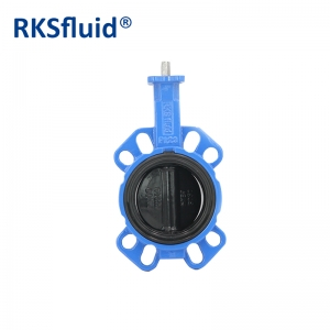 China Chinese butterfly valve Nylon disc DN100 wafer lug frange hardware resilient butterfly valve