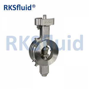 China chinese Rksfluid DN50 double eccentric high performance butterfly valve WCB