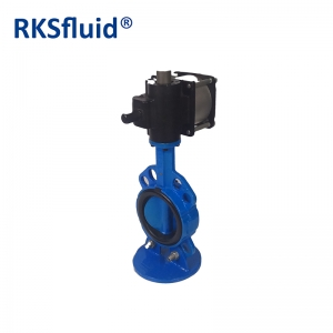 Chinese China butterfly valve DN100 4IN wafer lug  pneumatic actuator