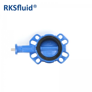 Chinese cheap high quality DN100 wafer butterfly valve hardware water use GGG40 body