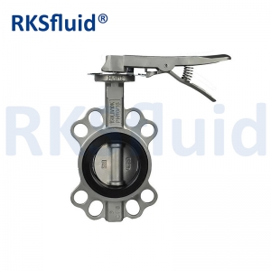 DIN BS SS304 SS316 CF8 CF8M Stainless Steel Wafer Butterfly Valve