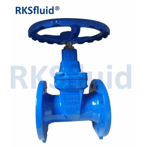 DIN F4 Flanged 4 Inch Gate Valve Manufacture Supplier With Prices Ductile Iron Sluice Valve with Resilient Seat