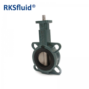 DN100 5 inch manual actuator operated Wafer style electric central butterfly valve