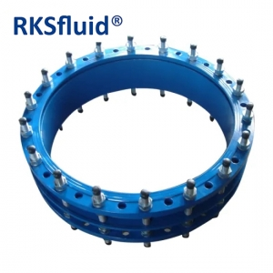 Dn800 Dn900 Dn1000 Dn1200 Dn1400 ISO2531 Blue Fusion Bonded Epoxy Coated Ductile Iron GGG50 Flanged Expansion Dismantling Joint Pn10 Pn16 Pn25