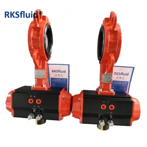 Double acting pneumatic actuator rotary actuator with mounting adapter