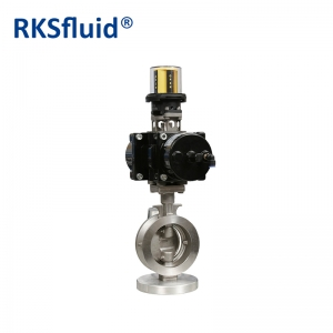 Electric actuator high performance stainless steel WCB butterfly valve