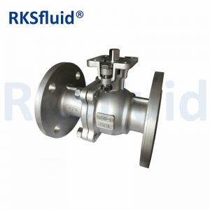Factory Directly stainless steel pneumatic Ball Valve Cf8M 1000 Wog 2Pc Ball Valves Flanged