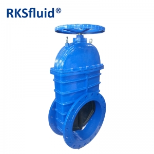 Flanged Gate valve DN300 PN16 resilient face type with manual opening closing gear mechanism