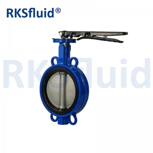 Grey Iron EPDM Seal Vertical Disc Type Manual Butterfly Valve