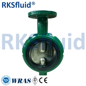 Handle Operate Casting iron short neck notched body butterfly valve