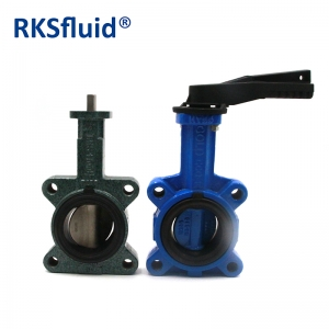 Manufacturing CI body DI disc DN40 to DN2000 wafer type butterfly valve