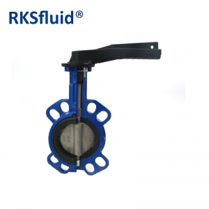 Mid line manual wafer butterfly valve without pin middle line wafer valve