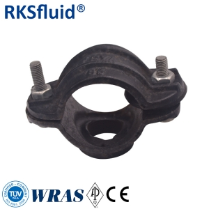 Pipe coupling repair clamps tapping saddle