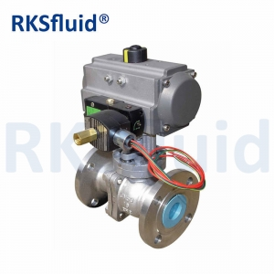 Pneumatic Floating Flange Type Ball Valve