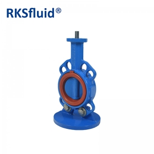 RKSfluid butterfly valve wafer DN80 bare shaft GGG40 Body