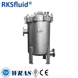 SS316 stainless steel water treatment pocket filter system