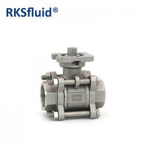 Stainless Steel SS316 floating ball valve patent design 3pcs ball valvula supply