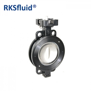 WCB carbon steel body disc butterfly valve