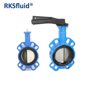 Wafer type SS316 disc GGG40 body butterfly valve