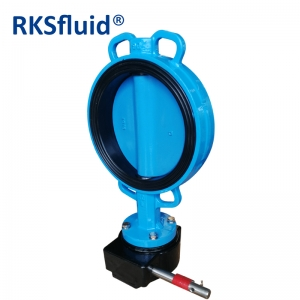 Water pipeline cf8 disc wafer lug flange butterfly valve