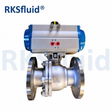 China 2PC Flange End Pneumatic Control Ball Valve factory