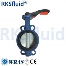 China Best supplier hand lever wafer type epdm seat dn100 butterfly valve factory