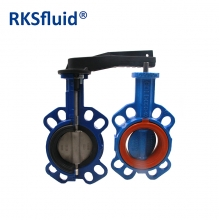 Butterfly valve DN80 wafer CI DI BODY handwheel bareshaft Hydra series PN6 10 16 Class 150 epoxy Nylon NR NBR EPDM