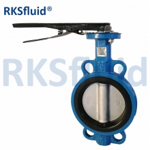 China CF8 Di Ci EPDM PTFE Strong Acid Ductile Iron Lever Opreated Wafer Lug Butterfly Valve factory