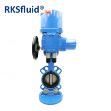 China Cast iron SS disc elect electric operated wafer type butterfly valve factory