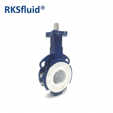 China CHinese Hardware butterfly valve wafer PTFE PFA disc acid application DN50