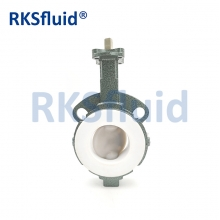 China China Chinese butterfly valve DN65 3IN wafer lug PTFE PFA disc seat acid application factory