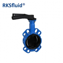China Chinese hardware DN100 butterfly valve wafer lug flange Nylon Hand lever