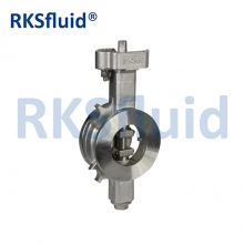 China China chinese Rksfluid DN50 double eccentric high performance butterfly valve WCB factory