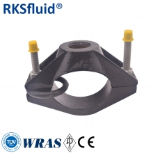 China Coating 150-200 μ 250Mm Pvc Pipe Saddle Clamps Hdpe Pipe Tapping Saddle factory