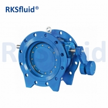 DI / Carbon Steel PN10 PN16 hydraulic Titling Butterfly type Check Valve with counter weight