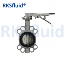 China DIN BS SS304 SS316 CF8 CF8M Stainless Steel Wafer Butterfly Valve factory