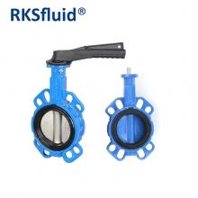 China DN100 4 inch manual actuator operated Wafer style electric central butterfly valve factory