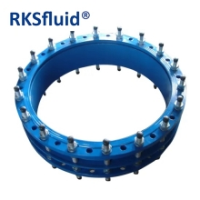 Chine Dn800 Dn900 Dn1000 Dn1200 Dn1400 ISO2531 Blue Fusion Bonded Epoxy Bonded Iron GGG50 Bride Expansion Bride Dismantling Joint Pn10 Pn16 Pn25 usine
