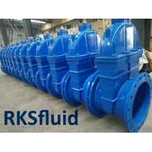 China Ductile Iron Pn16 Dn100 Water Din 3352 F4 Resilient Seated Gate Flanged Valve factory
