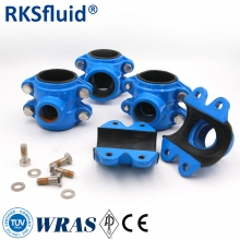 Ductile cast iron pipe repair clamps screw connect