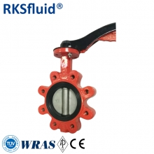 China EN593 PN16 LUG type new version seat design butterfly valve factory