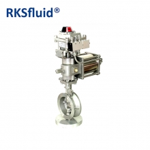 Pneumatic actuator high performance butterfly valve